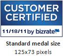 Standard Medal Size - 125x73 Pixels