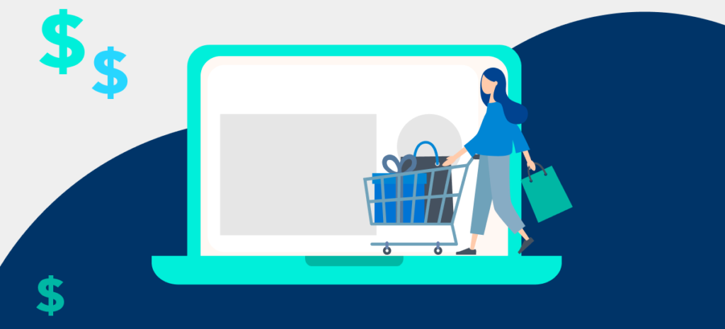 illustration of person shopping