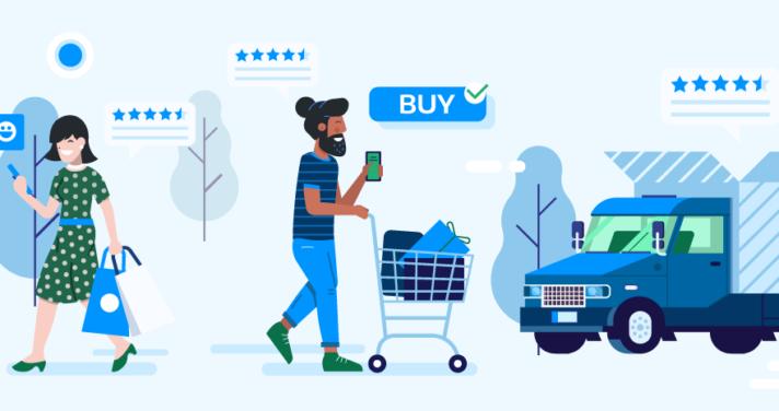 illustration of shoppers