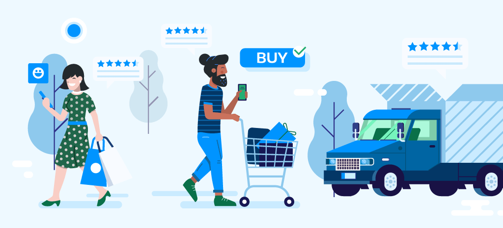 illustration of shoppers